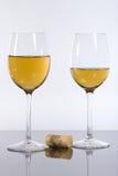 Copas con el vino Imagenes de archivo