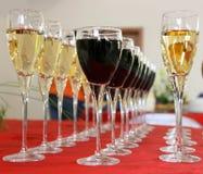 Copas de vino Fotografía de archivo libre de regalías