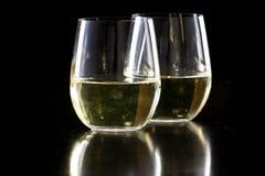 Copas de vino blancas sin pie Foto de archivo