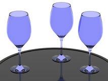 Copas de vino de cristal azules libre illustration