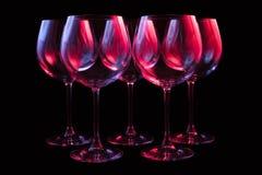 Copas de vino del partido Fotos de archivo libres de regalías