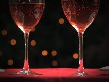Copas de vino en un vector Imagen de archivo