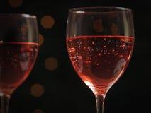 Copas de vino en un vector Foto de archivo