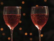 Copas de vino en un vector Imágenes de archivo libres de regalías