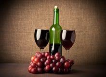 Copas de vino rojas Fotos de archivo