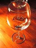 Copas de vino rojas Imágenes de archivo libres de regalías