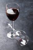 Copas de vino rojas Imagen de archivo libre de regalías