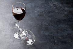 Copas de vino rojas Fotografía de archivo
