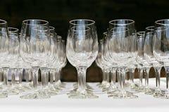 Copas de vino vacías Fotos de archivo