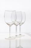 Copas de vino vacías aisladas Imágenes de archivo libres de regalías