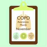 Copd awareness month Royalty Free Stock Image