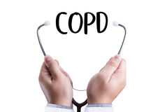 COPD Chronic obstructive pulmonary disease health medical concept stock image