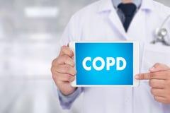COPD-chronisch obstruktive Lungenerkrankungs-Gesundheit medizinisches concep Lizenzfreie Stockbilder