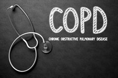 COPD Concept on Chalkboard. 3D Illustration. Royalty Free Stock Image