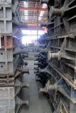 Cope and Drag Mold. Cope and Drag metal mold in foundry factory stock photography