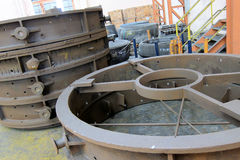 Cope and Drag Mold. Cope and Drag metal mold for foundry process, Factory stock image