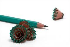 Copeaux #4 de crayon Image libre de droits