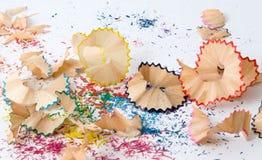 Copeaux de crayon Image stock