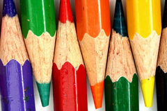 Copeaux de crayon d'isolement Images libres de droits