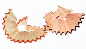 Copeaux de crayon d'isolement Image stock