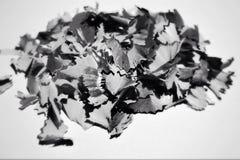 Copeaux de crayon d'isolement Photographie stock libre de droits