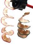 copeaux de crayon de plan rapproché Images stock