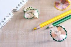 Copeaux du crayon Image libre de droits