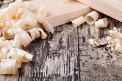 Copeaux en bois Photos stock
