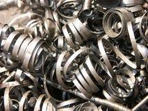 Copeaux en métal photographie stock libre de droits