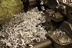 Copeaux en métal Image stock