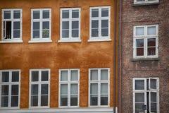 Copenaghen - building facade in nyhavn Royalty Free Stock Photo