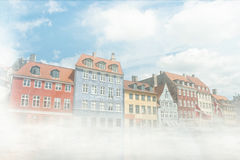 Copenaghen nihawn houses Royalty Free Stock Photo