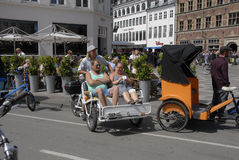 COPENAHGEN DISCOVER BY RICKSHAW Stock Images
