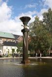 Copenhaga: 22 de agosto 2016 - A característica da água no jardim real da biblioteca, Copenhaga Fotos de Stock Royalty Free