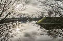 Copenhaga, Dinamarca - árvores e nuvens Foto de Stock