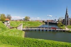 COPENHAGA, DINAMARCA - 30 DE ABRIL DE 2017: Vista do Kastellet FO foto de stock royalty free