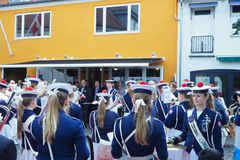 Copenhaga Dinamarca, faixa da música, evento especial foto de stock