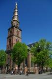 Copenhaga, Dinamarca 2 pode 2011: Vor Frelsers Kirke Fotografia de Stock