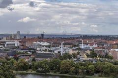 Copenhaga e ponte de Erusunnsky Fotos de Stock Royalty Free