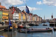 Copenhaga, Nyhavn foto de stock royalty free