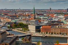 copenhagen воздушный взгляд города стоковые изображения