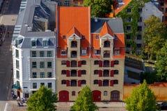 copenhagen воздушный взгляд города стоковое изображение