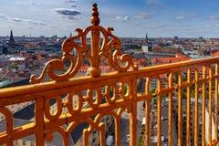 copenhagen воздушный взгляд города стоковые фото