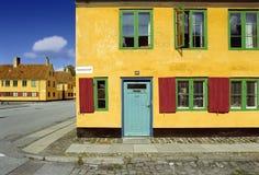 Copenhagen. Houses in the center of Copenhagen, Denmark Royalty Free Stock Image