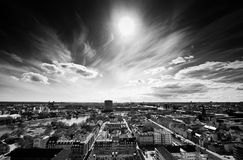 Copenhagen from Above. Wide angle view from high point in copenhagen Stock Photography