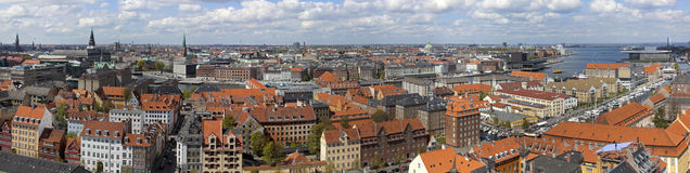 Copenhagen From Above. Copenhagen. Denmark Royalty Free Stock Photography