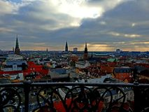 Copenhagen from above. Looking over Copenhagen from a tower royalty free stock image