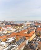 Copenhagen Aerial view Stock Photo