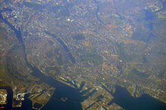 Copenhagen from air Royalty Free Stock Photography
