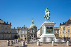 Copenhagen, The Amalienborg in Copenhagen city, Denmark Royalty Free Stock Image
